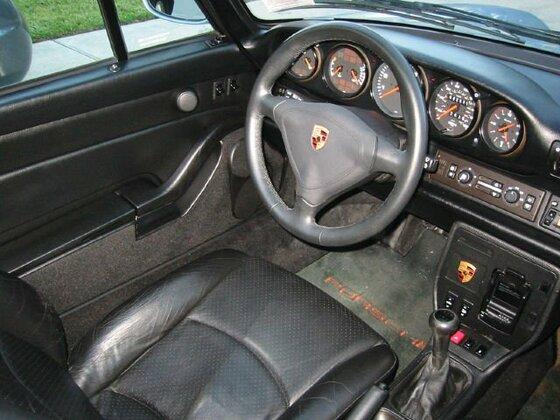 1996 993 Cabrio - Polar Silver - Black