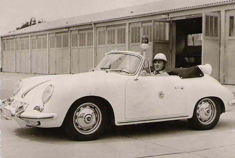 Porsche 356 B bei der Autobahnpolizei Karlsruhe im Jahre 1963