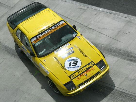 Der Gelbe 76er 924 FIA - Oldtimerrennwagen