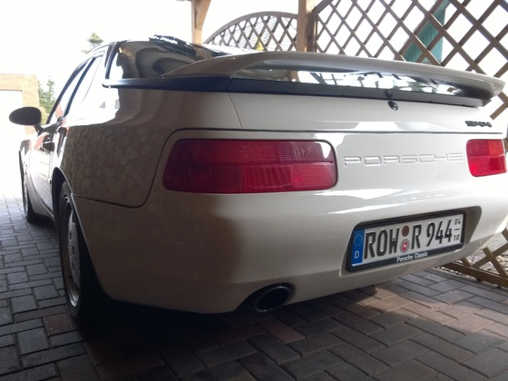 Heckansicht Porsche 944 Heckumbau