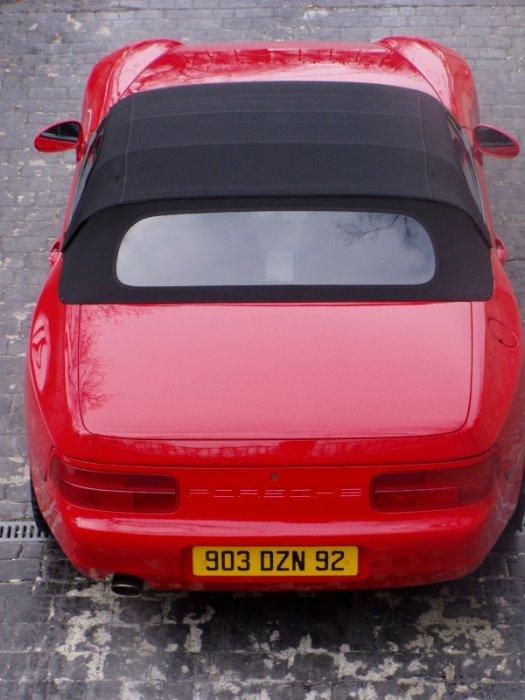 Porsche 968 Cabrio in Rot