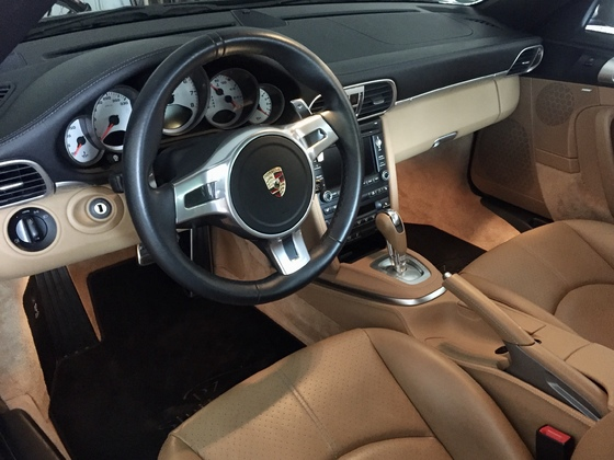 997.2 Carrera 4S Leder bicolor schwarz/ sandbeige