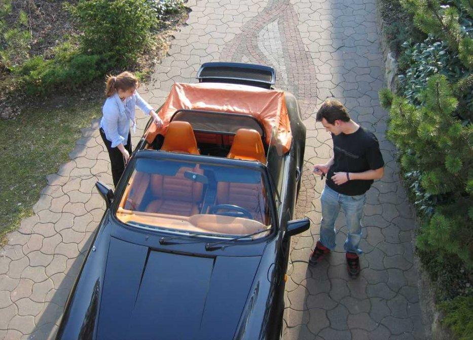 Meine Kinder im Cabrio 2