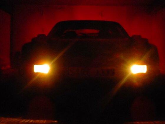 in der Garage