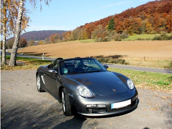 Mit dem Porsche Boxster 987.1 im Altmühltal