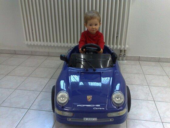 Steffen in seinem ersten Porsche