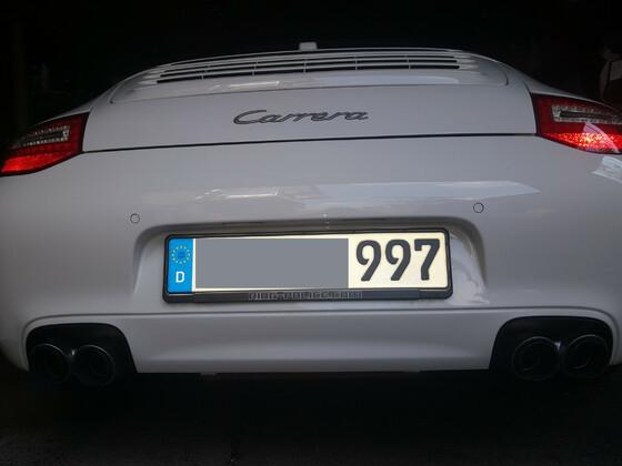 Porsche  911 Br. 997 Facelift Amerikanischer Klappenauspuff