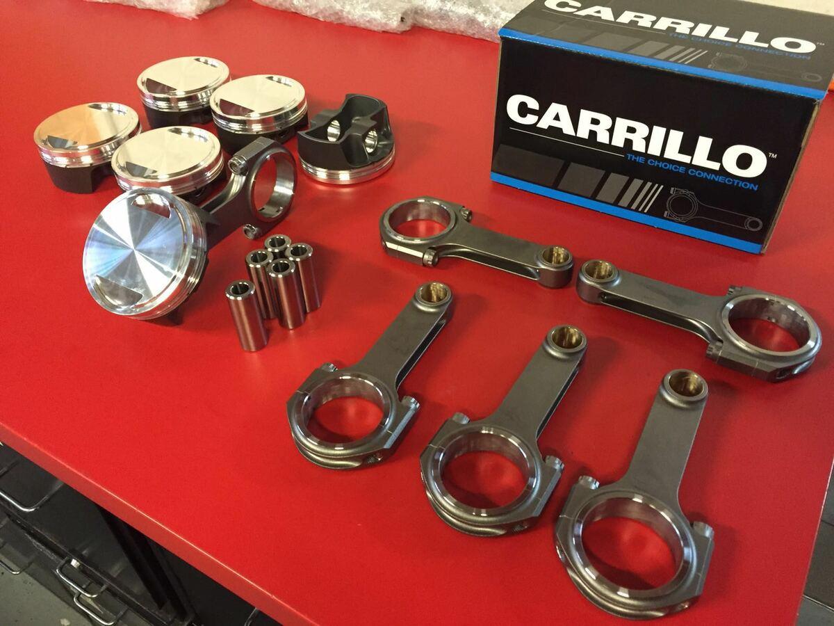 Carillo Pleuel und CP Kolben mit DLC Beschichtung und Hitzebehandlung