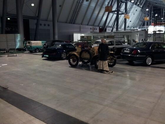 911 mit seiner UROMA von 1904 auf der Retro Classic in Stuttgart