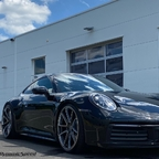 Porsche 992 on DynamicSpeed FS68 forged monobloc front view