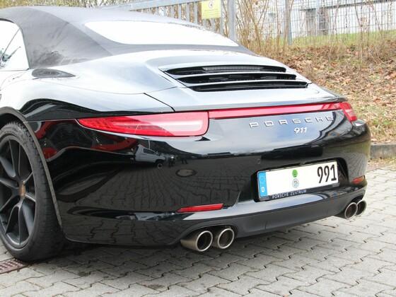 Porsche 991 Cabrio mit Akrapovic