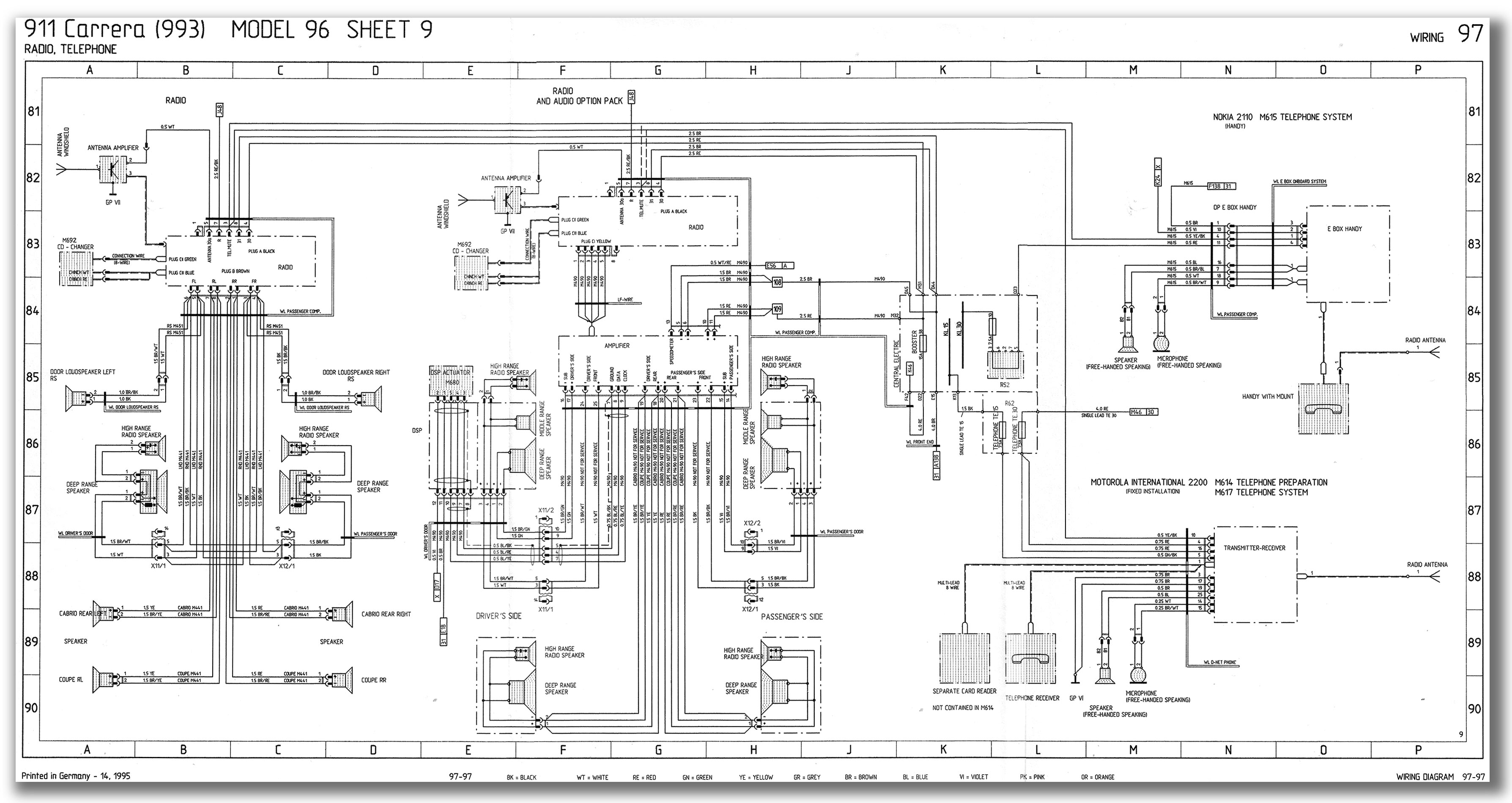 Porsche 996 Wiring Diagram Porsche 911 Window Switch