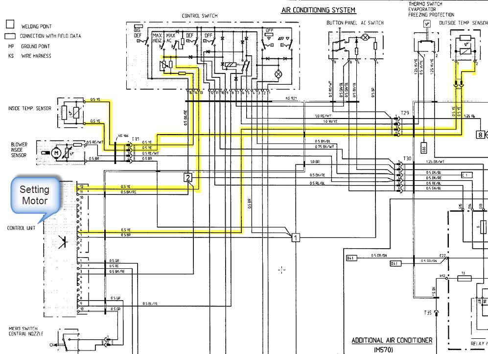 Stellmotor Temperaturmischklappe HVAC, Reinigung und Reparatur des ...