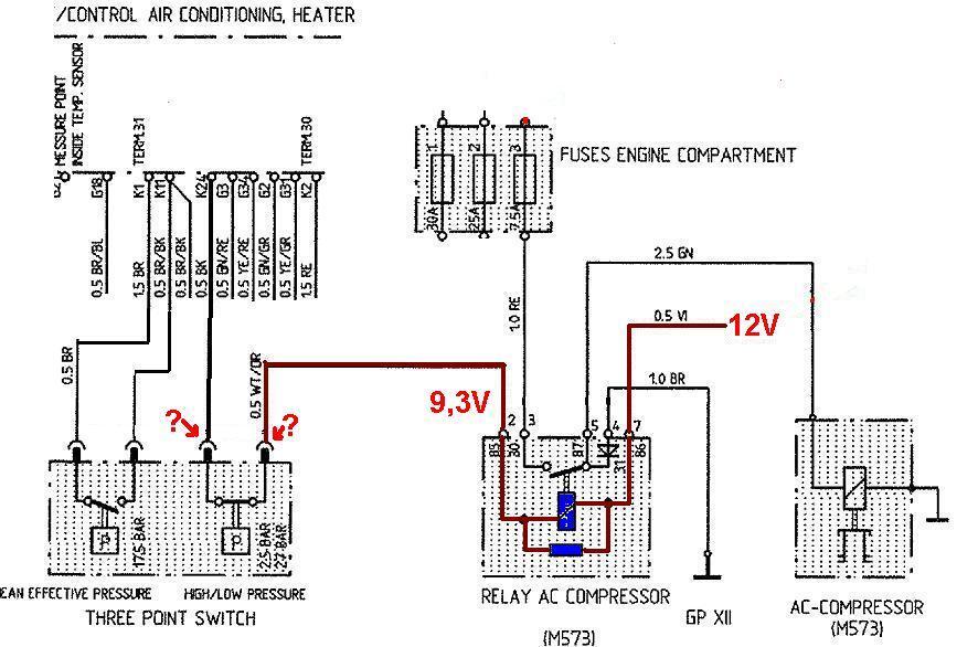 Aircondition -Kompressor -Relais ,Steckerbelegung 86 - Seite 2 ...