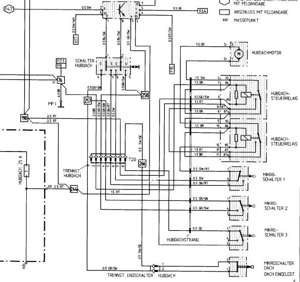 Targadach und Mikroschalter - - Porsche 924 S und 944 - PFF ...