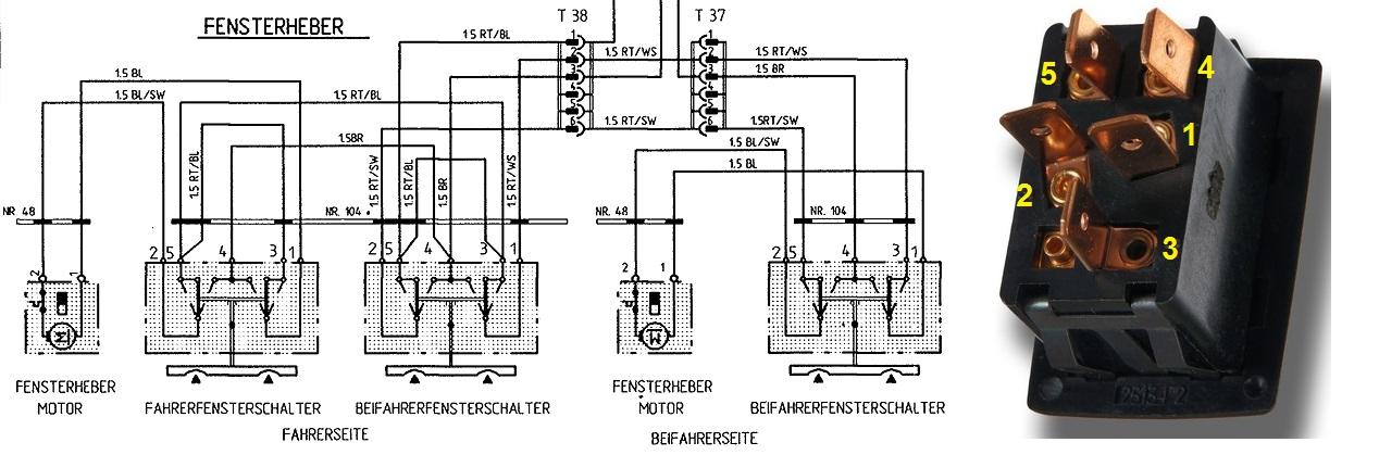 Frage zur Elektrik Fensterheber 3.0 SC - Porsche 911 G-Modell - PFF ...