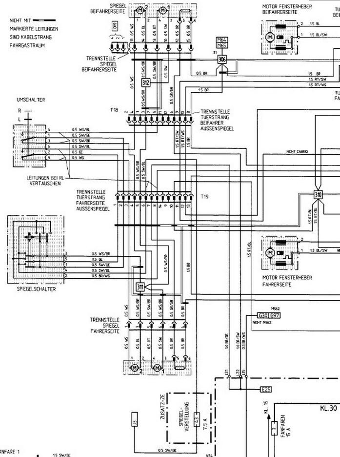 Schaltplan elektrischer Spiegel - Porsche 924 S und 944 - PFF ...