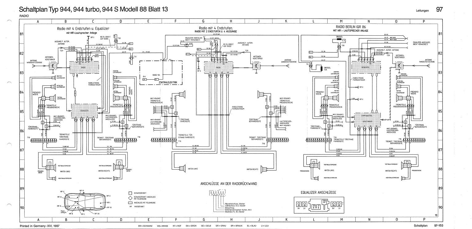 schaltplan autoradio porsche 924 s und 944 pff. Black Bedroom Furniture Sets. Home Design Ideas